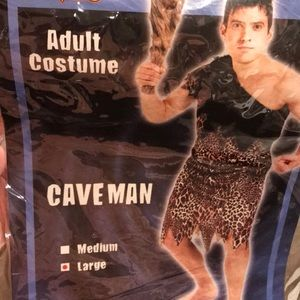 Men's adult caveman costume